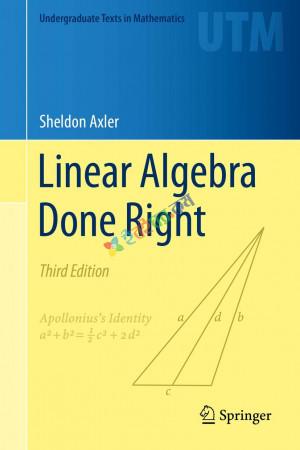 Linear Algebra Done Right (B&W)