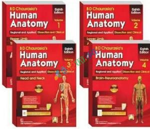 BD Chaurasia's Human Anatomy Volume 1-4 (Color)