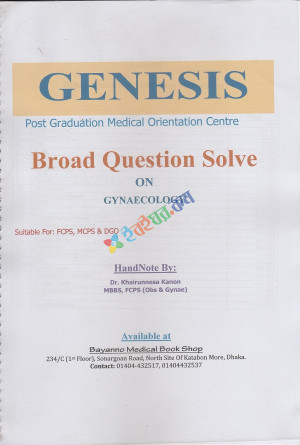 Genesis Exclusive Board Question Solved on Gynaecology for Fcps, Mcps & Dgo