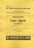 Genesis 42nd BCS Preliminary Special General Part Math