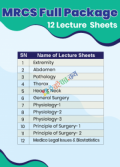 Genesis Lecture Sheet MRCS Part A Full Package (12  Sheet)