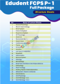 EDUDENT Lecture Sheet FCPS Part-1 Full Package (28 Sheet)
